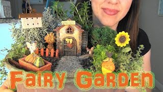 ASMR: Making a Miniature Harvest-Time Fairy Garden | Harvest-Time Crafts | Gardening Crafts