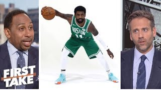 Stephen A., Max disagree on Kyrie Irving's future with the Celtics | First Take | ESPN