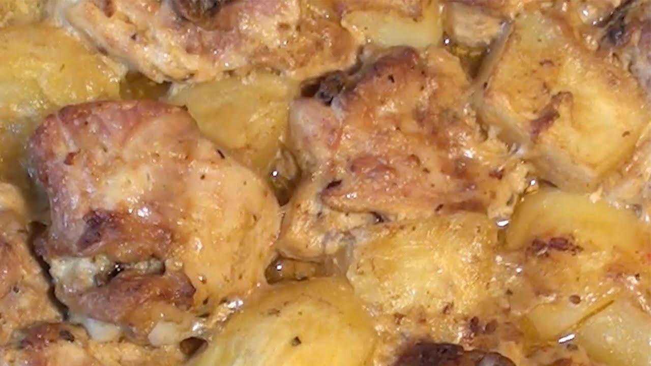 Бедрышки в картошкой в духовке рецепт с пошагово