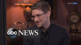 Edward Snowden Full  Interview on Trump, Petraeus, & Having