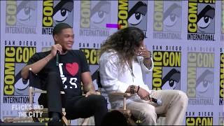 Aquaman (Jason Momoa) tells kid Superman is DEAD! Justice League Comic Con Panel 2017