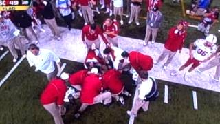 Hardest College Football Hit Ever? 12/1/2012 Nebraska vs. Wisconsin