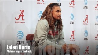 Alabama QB Jalen Hurts on facing Auburn