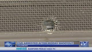 5 arrested after Goldsboro shootout