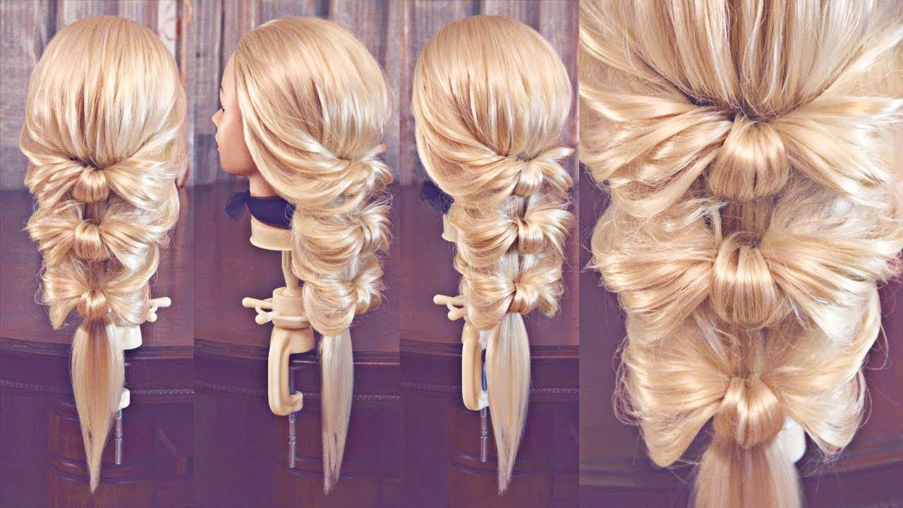 Легкие прически с одной резинки на короткий волос