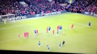 David Luiz FREEKICK GOAL • Liverpool vs Chelsea