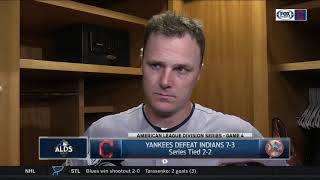 Jay Bruce confident about Game 5 at Progressive Field | Indians vs. Yankees ALDS