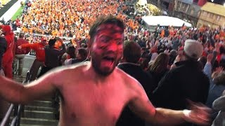 Clemson Fan goes CRAZY!!