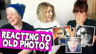 REACTING TO OLD PHOTOS (w/ HANNAH & MAMRIE) // Grace Helbig