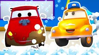 Jerry das Rennauto - Tom der Abschleppwagen und Toms Autowaschanlage| Lastwagen Zeichentrickfilme