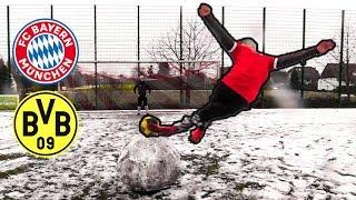 BAYERN vs DORTMUND - Fußball SCHNEE Challenges + Gewinnspiel