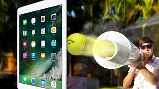 Can a Tankier Shoot Golf Ball Through iPad Pro 9.7? MASSIVE POTATO GUN!