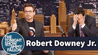 Robert Downey Jr. Coaches Jimmy Through Dramatic Acting Scenes