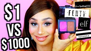 10 Dollar Makeup vs. 1000 Dollar Makeup: THE SAME LOOK