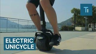 This unicycle balances itself