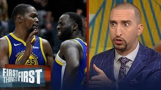 Nick Wright is shocked the Warriors suspended Draymond after rift with KD | NBA | FIRST THINGS FIRST