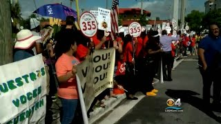 Protesters Arrive In Palm Beach Over Trump