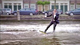 WAKEBOARDING AMSTERDAM IN A TUX