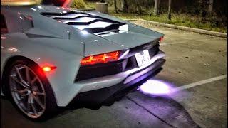 Lamborghini Aventador Throwing Insane Flames!!!