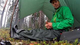 Coffee under the tarp, a rainy day in august