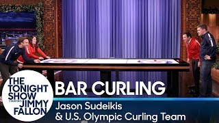 Bar Curling with Jason Sudeikis and the U.S. Olympic Curling Team
