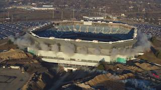 Pontiac Silverdome Demolition Fail 4K