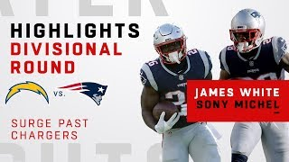 James White & Sony Michel Dominate The Chargers