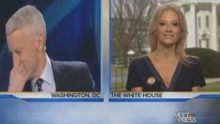 Anderson Cooper LAUGHS In Kellyanne Conway