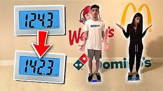 Who can GAIN the MOST WEIGHT in 24 Hours - Eating Challenge