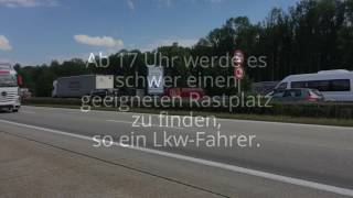 Lkw-Fahrer klagen über zu wenig Rastplätz
