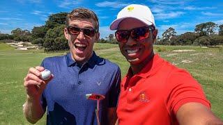 Golf Challenges Vs. TIGER WOODS & ERNIE ELS!
