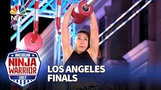 Zhanique Lovett at the Los Angeles Finals - American Ninja Warrior 2017