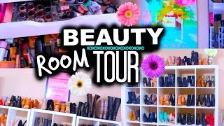 NEW BEAUTY ROOM TOUR! Organization & Storage Ideas| Casey Holmes