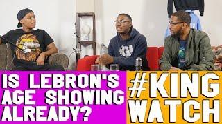 Is Lebron starting the season slow? | #KingWatch | Hoops N Brews