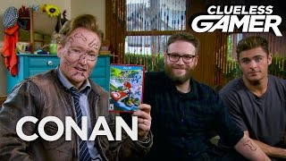 "Clueless Gamer: ""Mario Kart 8"" With Seth Rogen & Zac Efron  - CONAN on TBS"