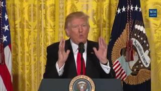 President Donald Trump Tears Into CNN Reporters Very Fake News!