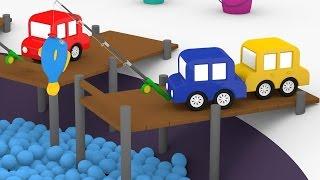 Lehrreicher Zeichentrickfilm - Die 4 kleinen Autos - Wir gehen angeln