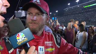 Dale Jr. follows through, hand delivers helmet to Rick Hendrick