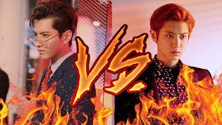 EXO CHANYEOL VS KRIS WU (RAP BATTLE  2017)