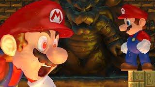 New Super Mario Bros Wii - Giant Mario VS Giant Mario