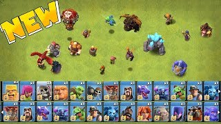 "ALL TROOPS LEVELED UP!! "" clash of clans ""  MAX TROOPS & SPELLS!!"