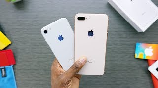 iPhone 8 Unboxing: Silver vs Gold!