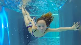 Carla Underwater - swimming underwater, jumping and water slides
