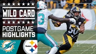 Dolphins vs. Steelers | NFL Wild Card Game Highlights