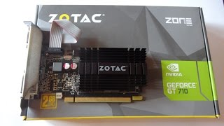 ZOTAC Nvidia GeForce GT 710 2GB DDR3 Graphics Card unboxing.. best budget graphics card in 2016