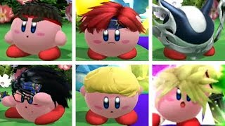 Super Smash Bros. (Wii U) - All Kirby Hats and Transformations (DLC Included)