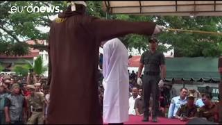 Two men caned for gay sex in Indonesia