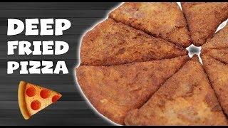 DIY DOUBLE DEEP FRIED PIZZA 🍕