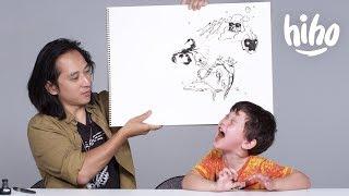 Kids Describe Their Fears to an Illustrator | Kids Describe | HiHo Kids