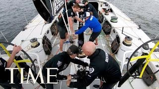 Sail Around The World For Volvo Ocean Race: Team Brunel Takes On The